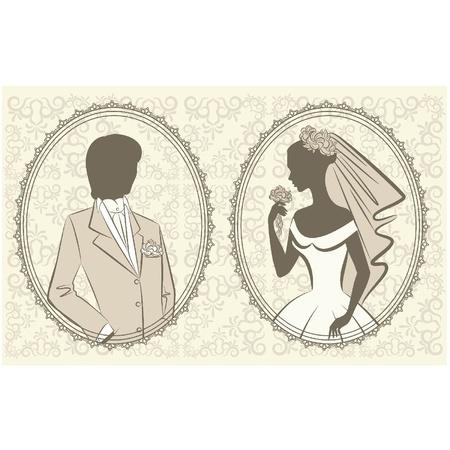beautiful bride and groom Stock Vector - 11106929