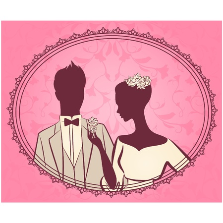 beautiful bride and groom Stock Vector - 11106895