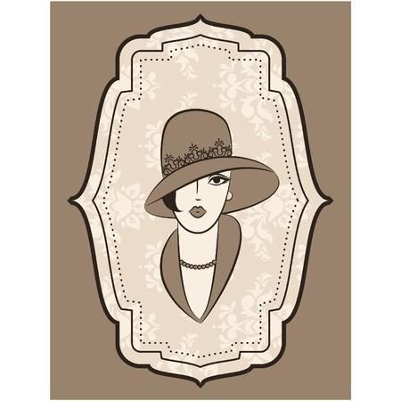 Vintage fashion girl in hat. Zdjęcie Seryjne - 11106870