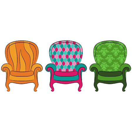 Vector arm-chair for vintage inter Stock Vector - 11106893
