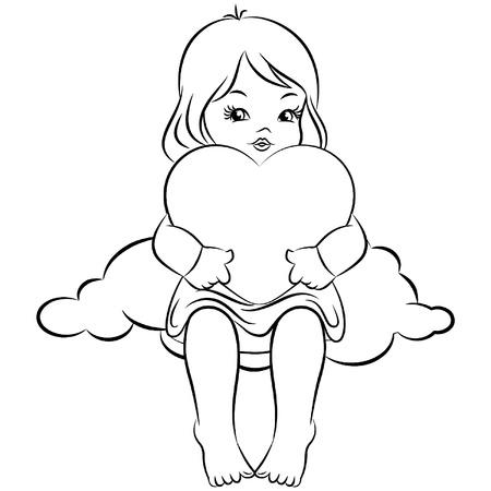 Beautiful baby angel. Vector Stock Vector - 11106866