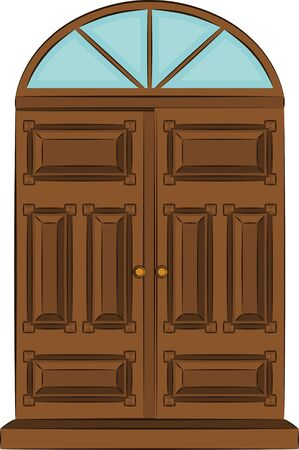 The vintage door for interior.