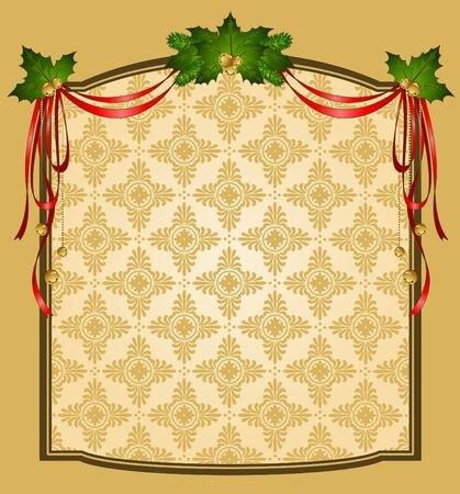 Vintage Christmas tapestry background.  photo