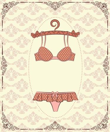 brassiere: Vintage underlinen .