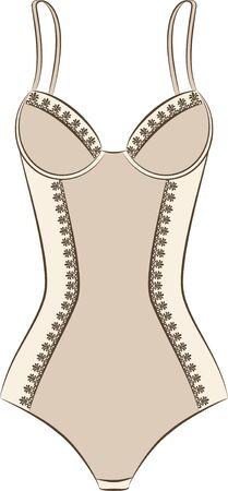 underclothing: Vintage underlinen .