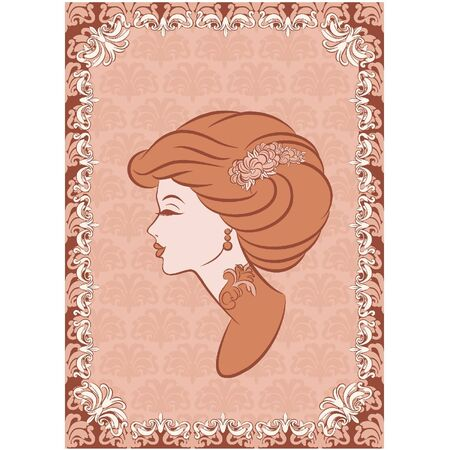 Vintage fashion girl.  Vector