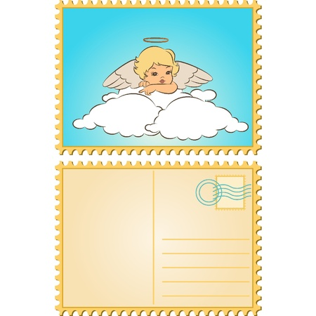 Beautiful baby angel with wings Stock Vector - 11294945