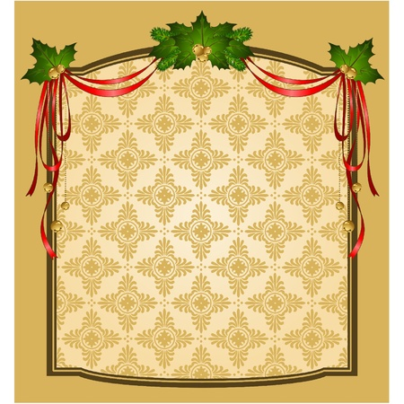 Vintage Christmas tapestry background Vector