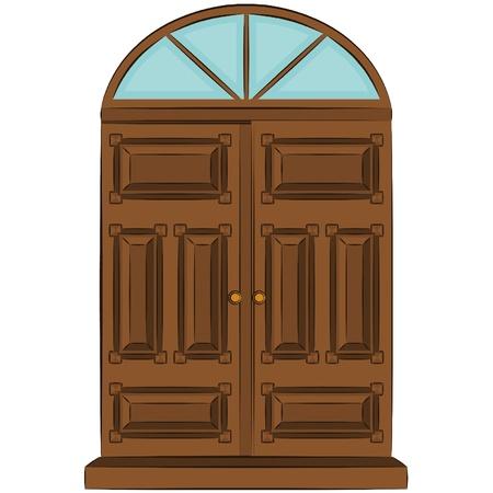 The vintage door for interior Stock Vector - 11294903