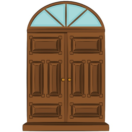 The vintage door for interior Stock Vector - 11294903