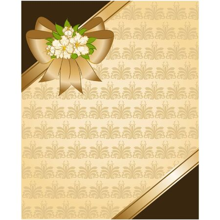 Vintage tapestry background and flower Vector