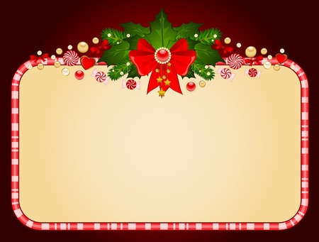 candycane: Christmas background with bow.