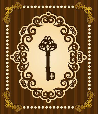 passkey: Vintage Antique Key tapestry background.