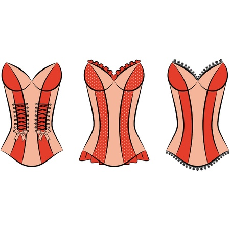 cowards: Vintage corset  Illustration