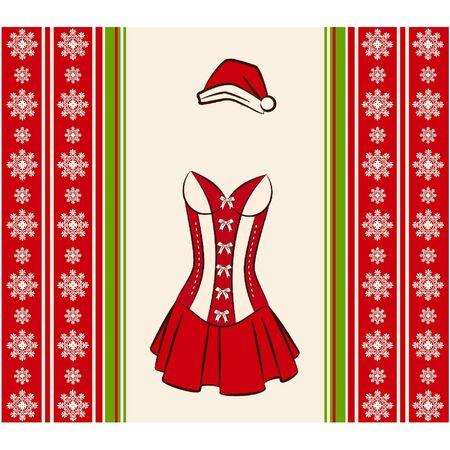 underclothes: Christmas underlinen for sexy snow maiden.