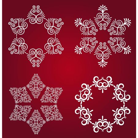 Snowflake winter background. Vector