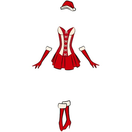 cowards: Christmas underlinen for sexy snow maiden.