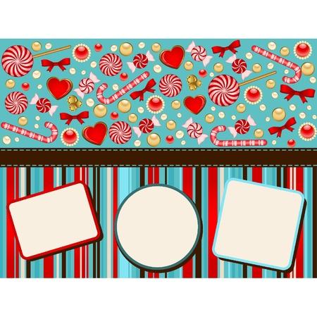 Christmas background with Candy cane. Vektorové ilustrace