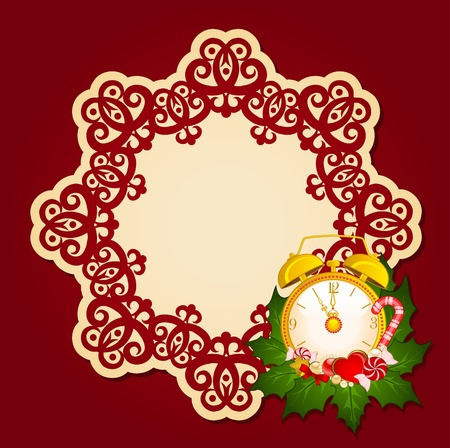 Christmas background with Candy cane. photo