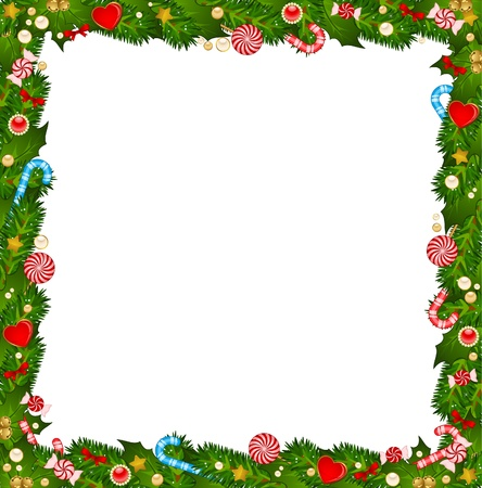 Christmas background with Candy cane.