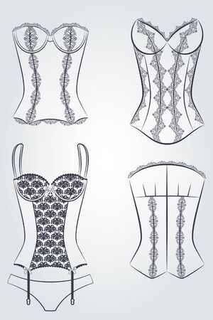 Vintage corset  Stock Photo