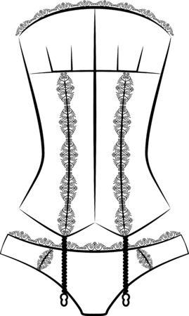 cowards: Vintage corset  Stock Photo