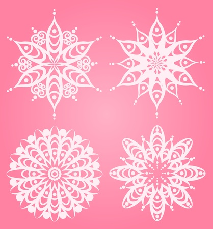 Snowflake winter background. photo