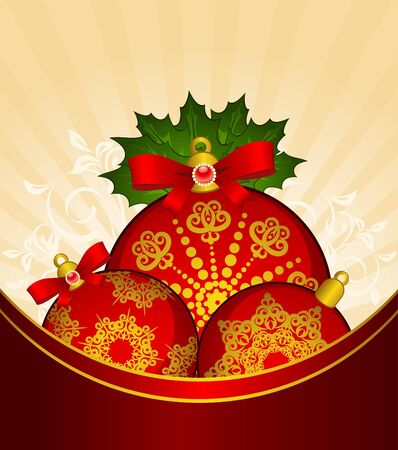 Christmas balls decoration Happy New Year bauble.  photo