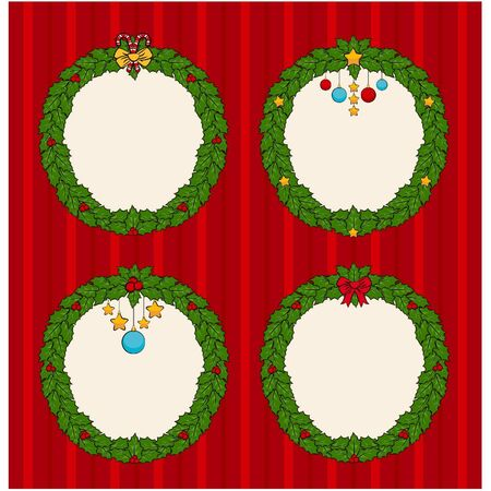 chaplet: Christmas chaplet with gifts on background