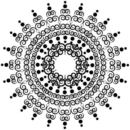 dessin noir blanc: Flocon de neige fond l'hiver. Illustration