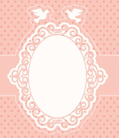 Vintage background with lace ornaments. photo