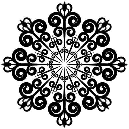 lace doily: Snowflake winter background.