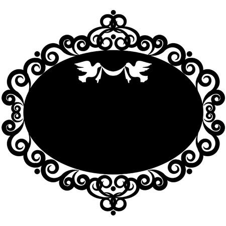 Vintage Hintergrund mit Spitze Ornamente. Vektor Vektorgrafik