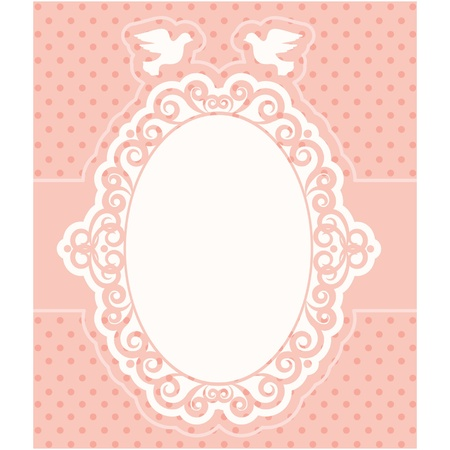 Vintage background with lace ornaments. Vector Vector