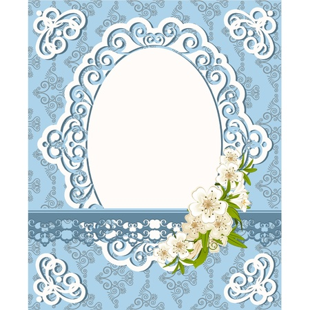 Vintage Hintergrund mit Spitze Ornamenten und Blumen. Vektor Vektorgrafik