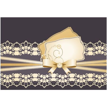 Vintage background with lace ornaments. Vector Stock Vector - 12080793