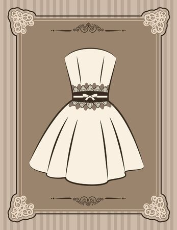 Vintage background with lace ornaments and clothes photo