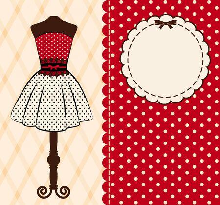manikin: Fondo de la vendimia con adornos de encaje y ropa