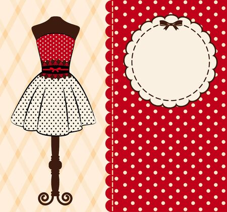 Vintage background with lace ornaments and clothes