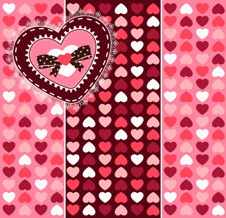 Vintage background with lace ornaments for Valentine s Day photo