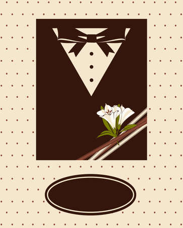 Vintage background with tuxedo shirt and bowtie close up Stock Photo - 14576093