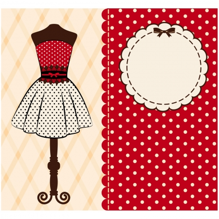 pretty dress: Vintage background con ornamenti di pizzo
