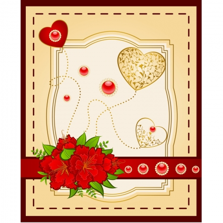 Vintage background with lace ornaments and flowers Stock Vector - 14576013