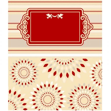 Vintage Hintergrund mit Spitze Ornamente für Valentine s Day