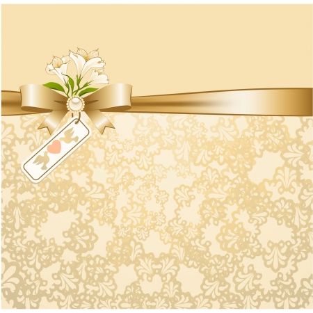 veters: Vintage achtergrond met kant ornamenten en bloemen Stock Illustratie