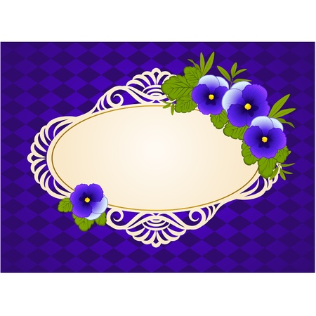 Vintage background with lace ornaments and flowers Stock Vector - 14577419