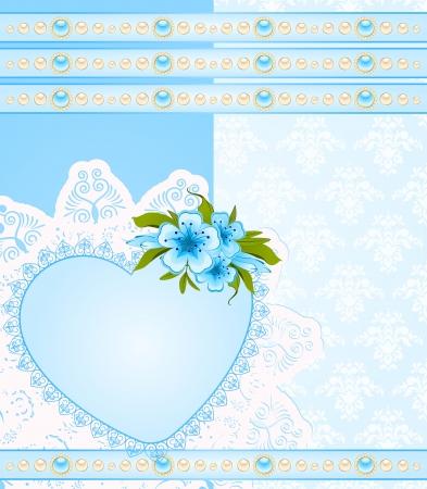 Vintage Hintergrund mit Spitze Ornamente und Blumen Standard-Bild