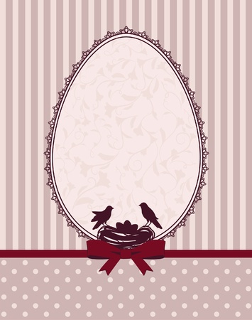 Eggs and birds with lace ornaments  photo