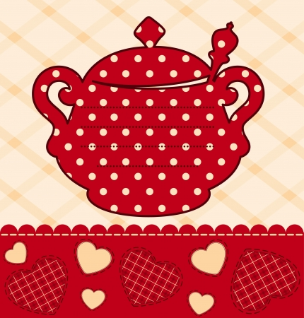 illustration of vintage ceramic tea pot illustration