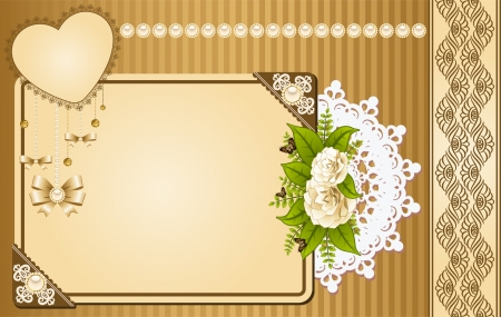 Vintage background with lace ornaments and flowers Stock Photo - 14578508